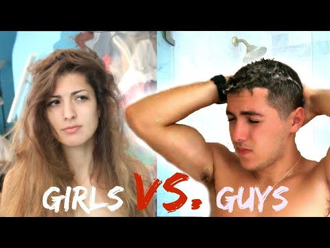 Thumbnail: Morning Routine Guys Vs. Girls!
