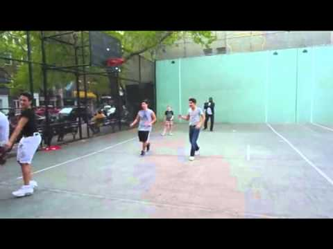 April 15, 2012 - Dwyane Wade surprises kids in SOHO playground and joins them in pick up game