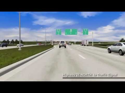 I-39/90 and WIS 26 Diverging Diamond Interchange Animation