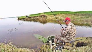 ВОТ ЭТО КЛЕВ! ЛОВЛЯ КАРАСЯ на ПОПЛАВОК! рыбалка на озере