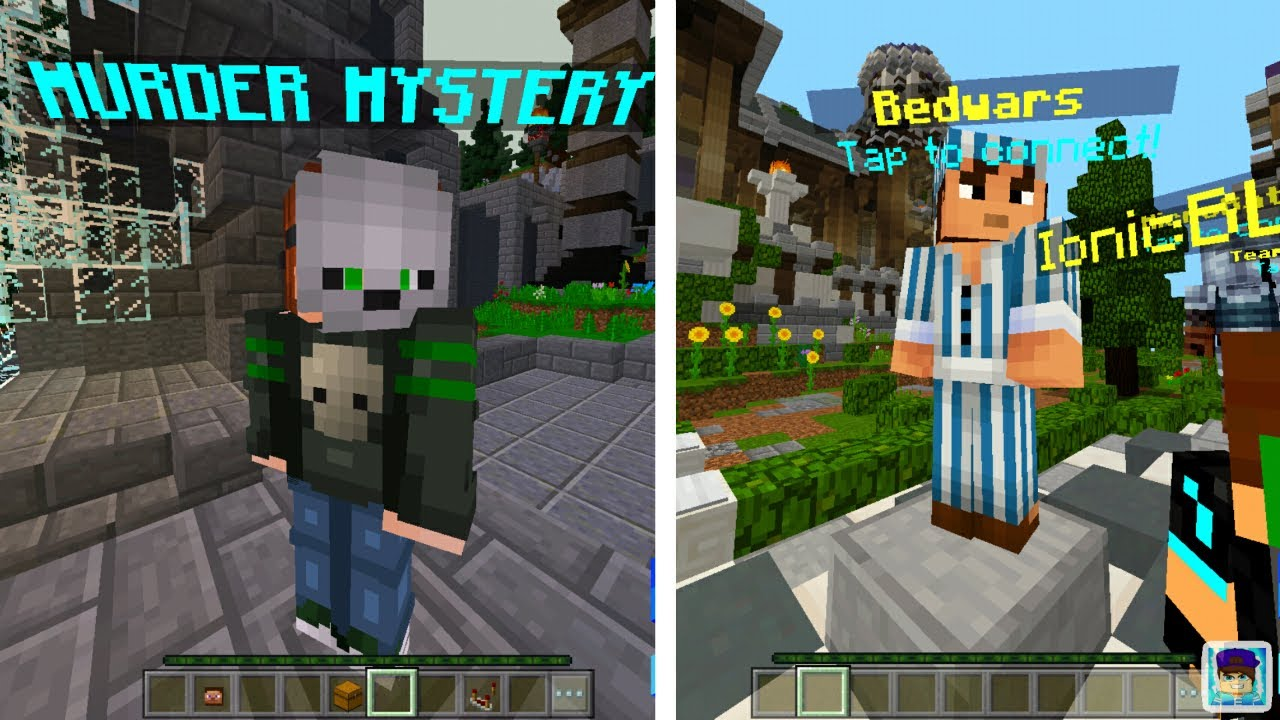 How To Get Hypixel On Minecraft PE Murder Mystery Server For - Minecraft server wo youtuber spielen
