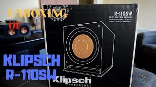 Unboxing of Klipsch R-110sw Subwoofer
