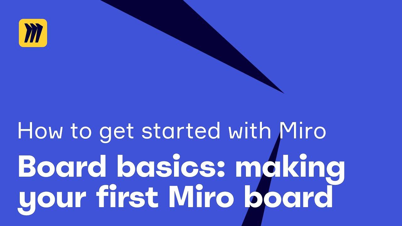 Board Basics: Making Your First Miro Board