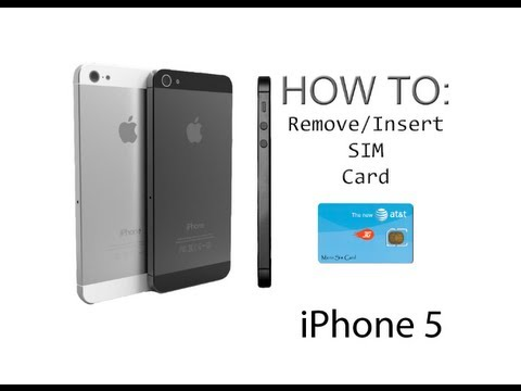 iphone 5 5s how to insert remove a sim card youtube. Black Bedroom Furniture Sets. Home Design Ideas