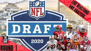 The NFL DRAFT 2020 1st Rd Picks || LIVE Reactions & Analysis 🔥🔥🔥