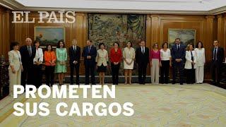 Las ministras y los ministros de Pedro Sánchez prometen el cargo ante el Rey