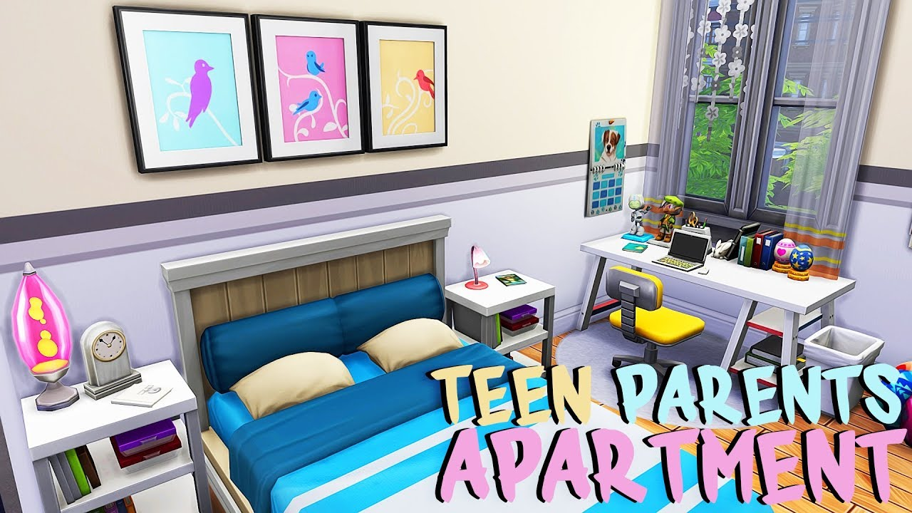 TEEN PARENTS APARTMENT 💕 | The Sims 4 | Apartment Renovation Speed Build