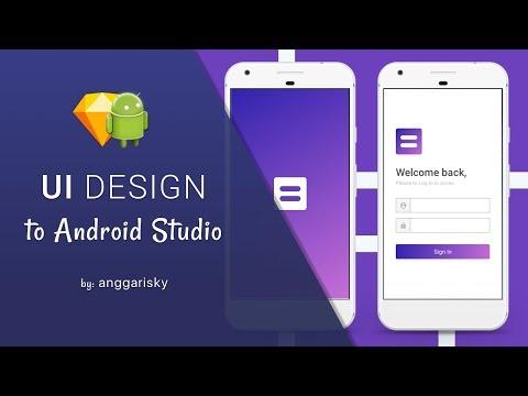 Purple Login UI Design to Android XML Tutorial