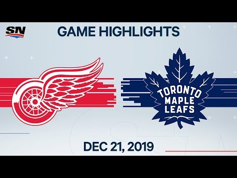 NHL Highlights | Red Wings Vs. Maple Leafs – Dec. 21, 2019