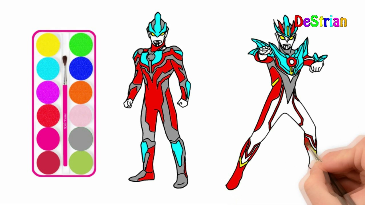 Ultraman Gaia Coloring Pages For Kids How To Color Ultraman