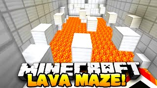 Minecraft - LAVA MAZE! (Puzzle Map) - Part 2 - w/ Preston, Nooch & Kenny