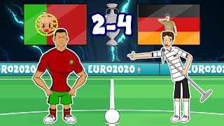 🤣GERMANY Destroy PORTUGAL!🤣 (Muller Trolls Ronaldo Bruno Dias Jota) 4-2 Euro 2020 Goals Highlights