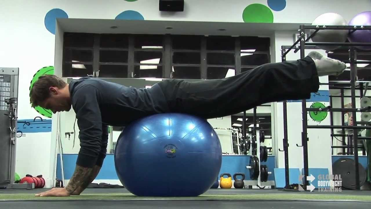 Swiss Ball Back and Hip Extension - YouTube