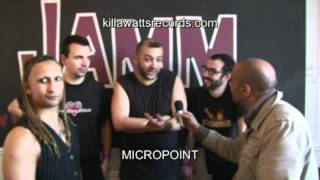Killawatts interview with Micropoint.. Brixton Jamm, London.. First UK gig.. June 9th 2012