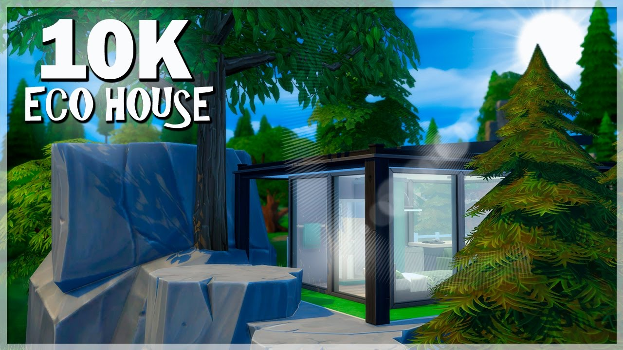 Interior design challenge eco home - 10k Build Challenge Eco House Los Sims 4 Speed Build