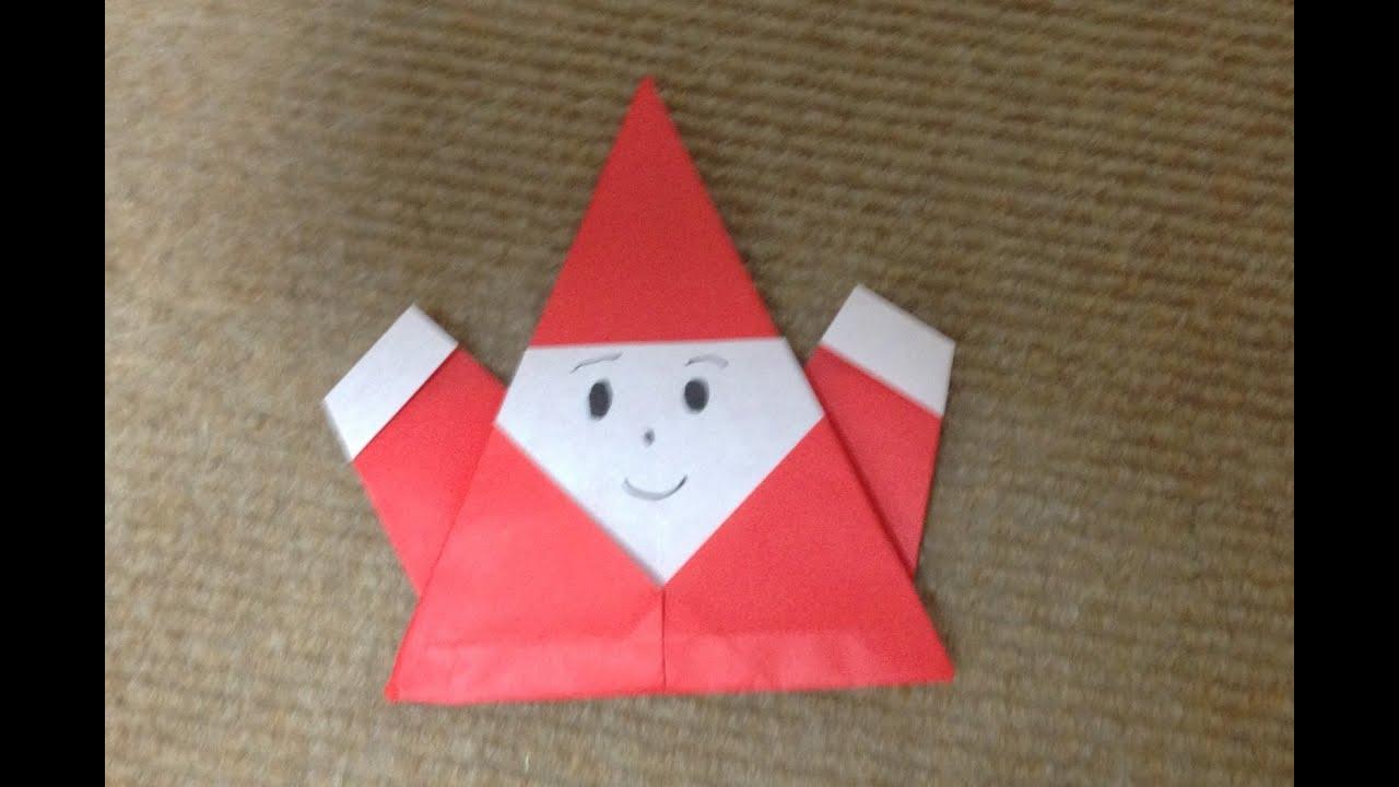 サンタクロース 折り紙 折り方 作り方 How to make an Santa Claus ...