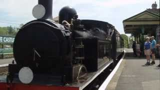 (HD) Swanage Railway+Rare Steam Locomotives 27th May 2012