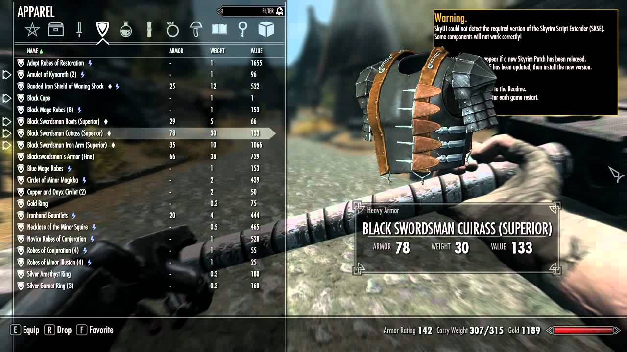 Skyrim Mods: Berserk Black Swordsman Armor and Dragon Slayer