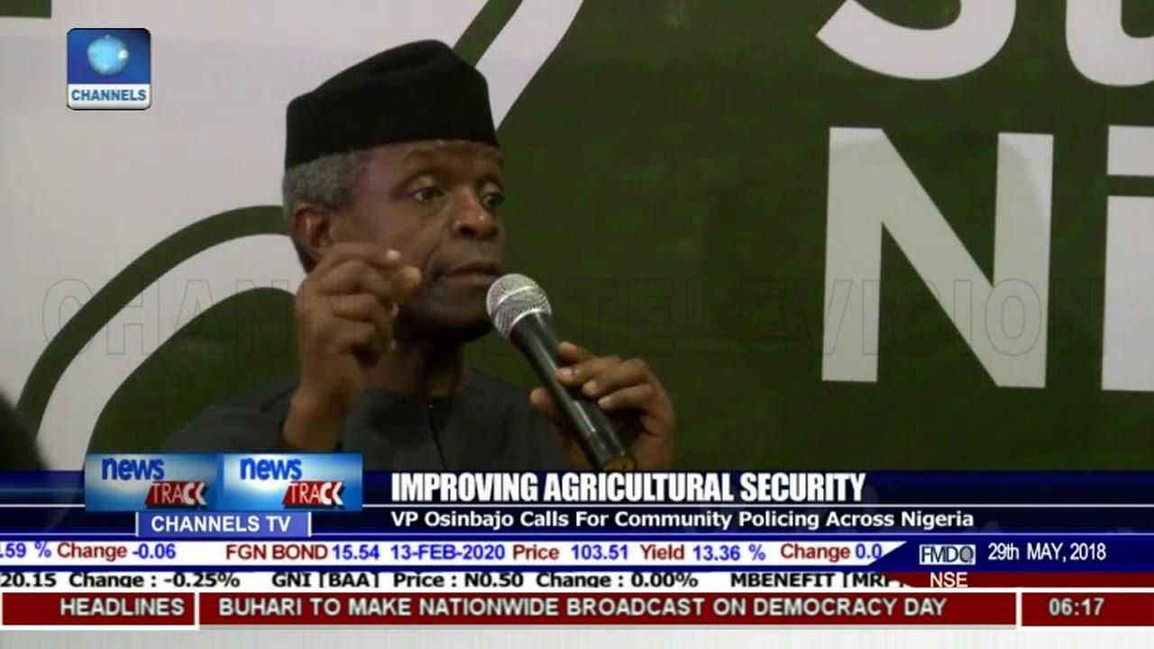 VP Osinbajo Calls For Community policing Across Nigeria To Improve Security