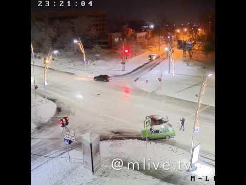 Авария в Мелитополе 06.02.2020