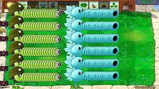 Plants vs Zombies Hack - Snow Pea and Gatling Pea Siver vs Dr. Zomboss