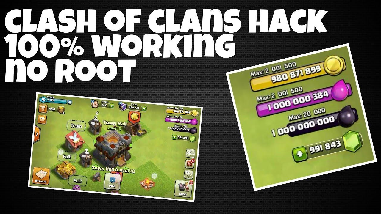 Clash clans hack no root
