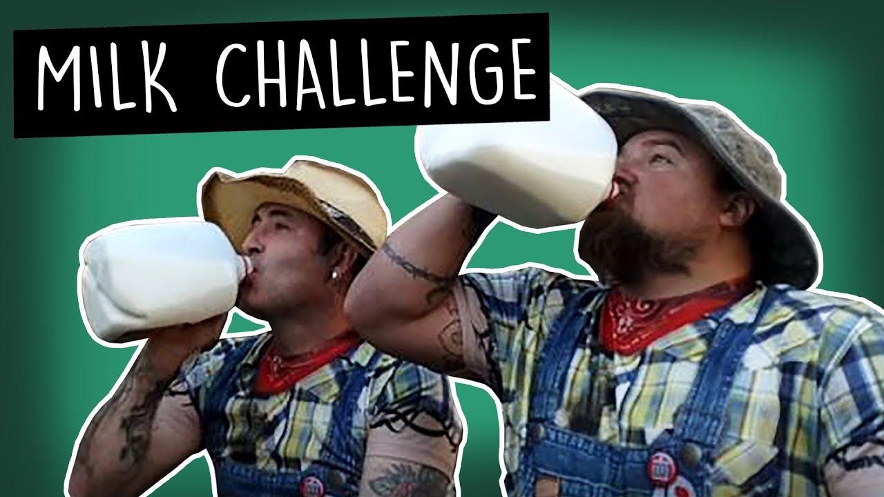 Catfish Cooley vs Hillbilly Boys Milk Challenge Fail
