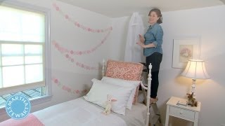 Learn & Do Creating A Bed Canopy - Home How-to Series - Martha Stewart