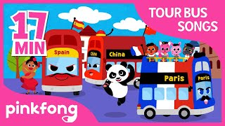 Paris Tour Bus and more | Traveling | +Compilation | Pinkfong Songs for Children