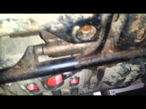 Honda recon oil change - YouTube