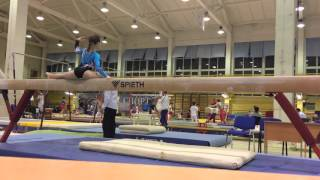 Виктория Ревякина, 2 разряд, Олимпийские Надежды 2015г.,  упражнение на бревне. Тренер Гусейнова Н.Р