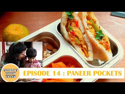 Paneer Pockets | Paneer Kulcha Pockets | Tasty Lunch Box recipe for kids |Easy  tiffin Ideas