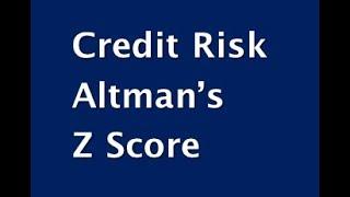 CAIIB BFM Case Study -Credit Risk - Altman Z Score