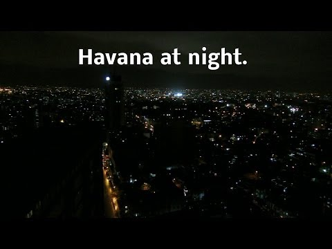 Travel to Cuba: The tallest building in Cuba - View of Havana at night