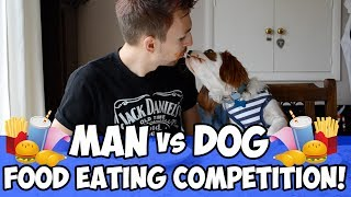 Man vs Dog: Food Eating Competition