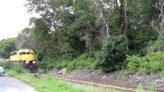 Cleaning Up After Irene: Ballast Train and MoW on NYS&W - August 29, 2011
