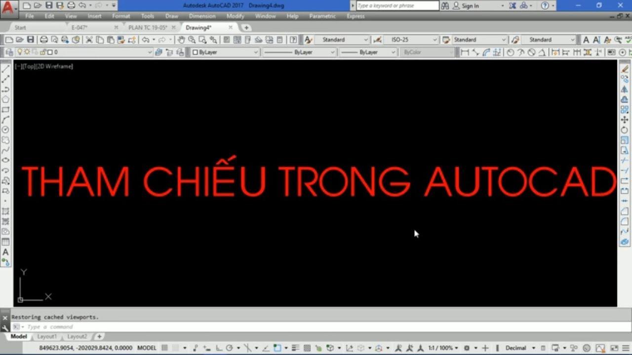 Video 22: Tham chiếu file bản vẽ trong Autocad