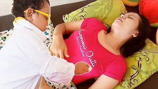 MAMA SAKIT PERUT 😢 Parodi Anak Main Dokter Dokteran 💖