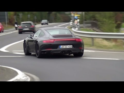 2018 Porsche 911 GTS Spied Testing on the Nurburgring, Nordschleife!