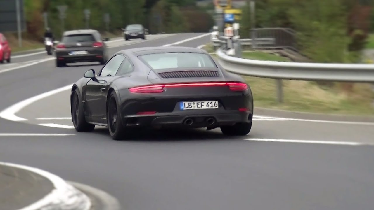 2018 Porsche 911 Gts Spied Testing On The Nurburgring