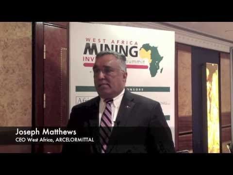 Joseph Matthews, ArcelorMittal talks about the West African mining sector
