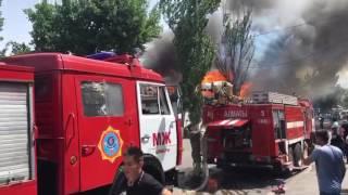 Кафе Paradise горит в Алматы