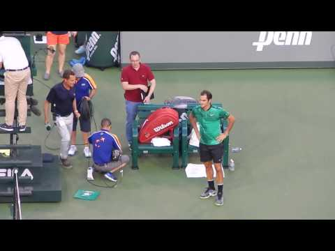 2017 Indian Wells Federer vs Nadal -  End of Match and Interview