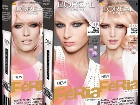 L Oreal Feria Pastel Hair Toning Conditioner Review Youtube