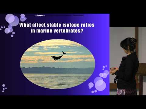 Use of stable isotopes to trace pollutants in marine vertebrates - Krishna Das