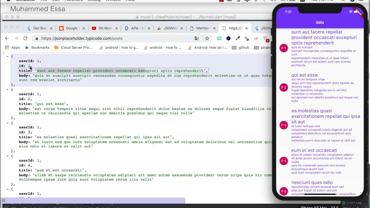 15 Flutter Listview with API data
