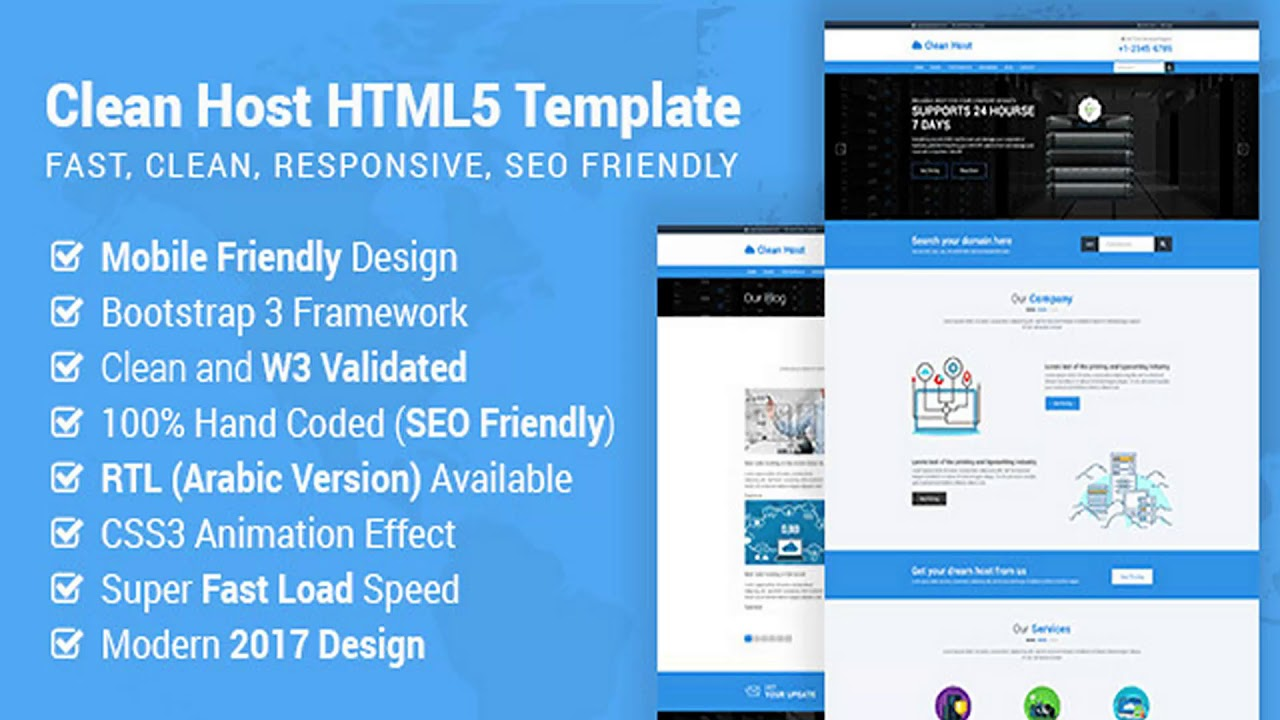 website hosting and templates