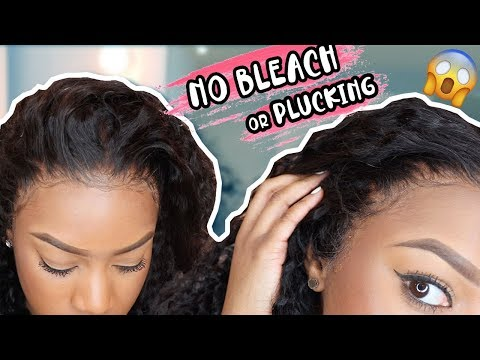 NO BLEACH/PLUCKING | HOW I LAY MY LACE FRONT WIG...GIRLLL 😏| Wigs With Ariel #WIGWEDNESDAY