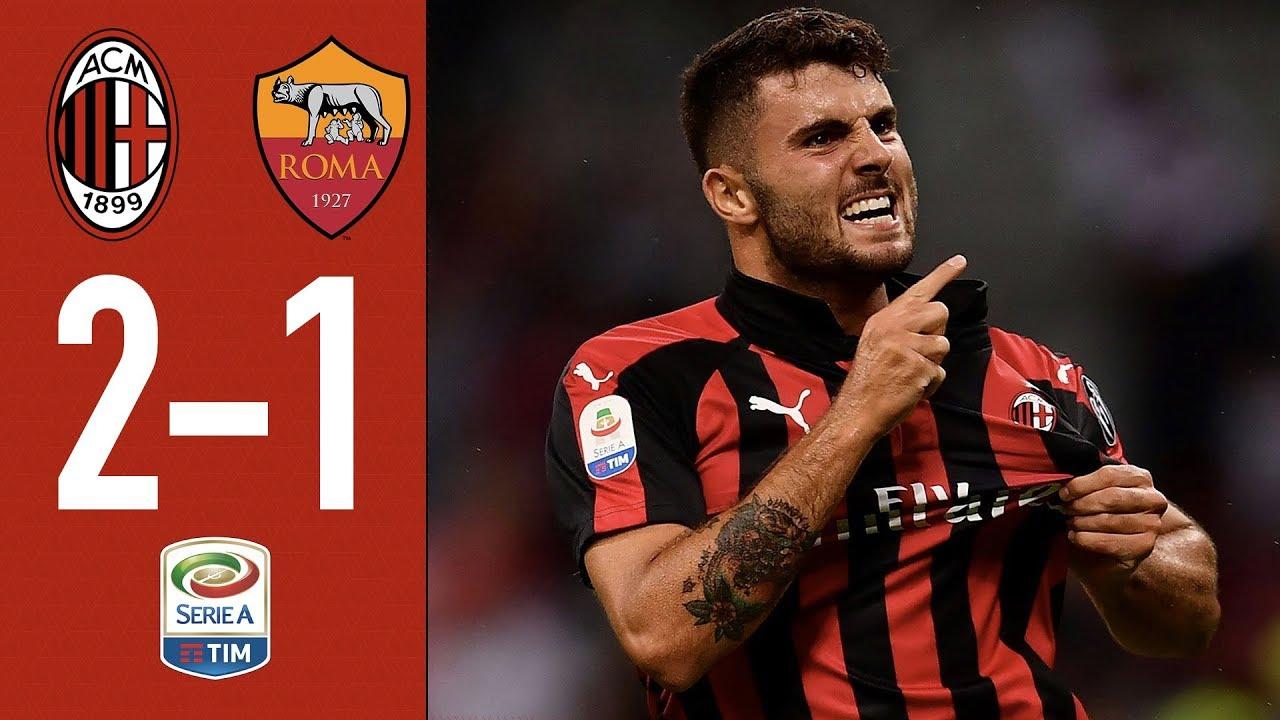 Highlights Ac Milan Dou Unu Roma Matchday Trei Serie
