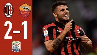 Highlights AC Milan 2-1 Roma - Matchday 3 Serie A 2018/2019